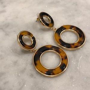 Jewelry - Tortoise Double Circle Earring